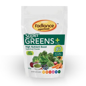 Radiance Superfoods - Super Greens Plus - Tasty Tropical Flavour -0